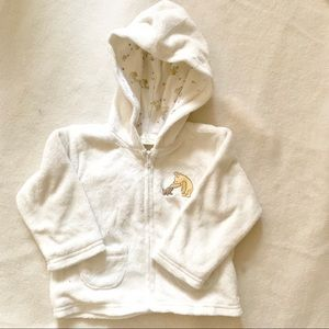 Classic Pooh bear lined baby hoodie